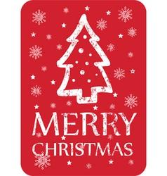 christmas greeting with christmas tree vector image
