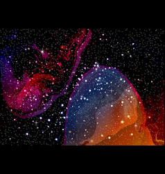 cosmic galaxy watercolor background with stardust vector image vector image