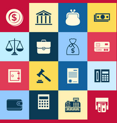 digital blue red business icons vector image vector image