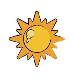 Drawn sun energy natural symbol design vector