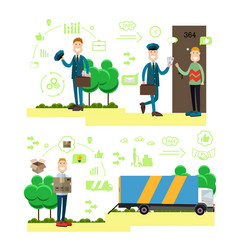 fast delivery concept in flat vector image