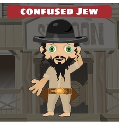 Fictional cartoon character - confused jew vector