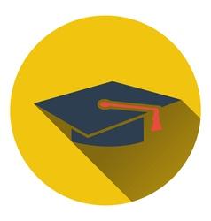 Flat design icon of Graduation cap in ui colors vector image