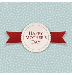 Happy Mothers Day festive Banner with Ribbon vector image