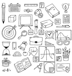 Icons on a mathematics theme hand vector