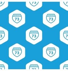 Interstate 73 hexagon pattern vector