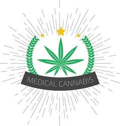 Medical cannabis logo Medical marijuana logo vector image