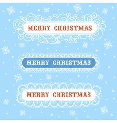 Merry Christmas collection frame vector image