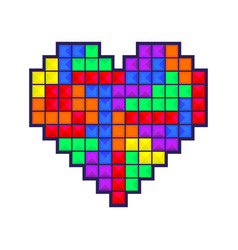 Mosaic heart colored vector