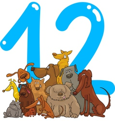 number twelve vector image