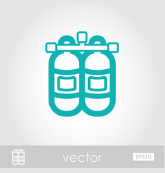 Oxygen tank outline icon summer vacation vector