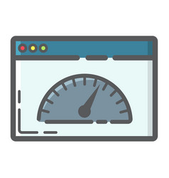 page speed filled outline icon seo development vector image