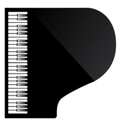 Piano from above vector
