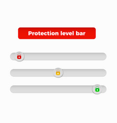 protection level bar vector image vector image