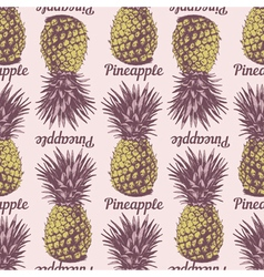 Seamless pineapple background vector