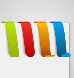 Set of colored empty paper tags vector image vector image