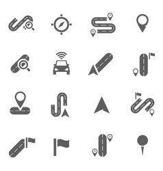 Set of navigation icons vector image