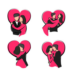 Sketch couple valentine day vector