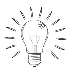 sketchy electric bulb vector image vector image