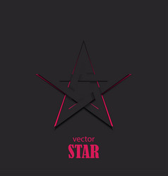 star 3d abstract symbol popularity concept vector image vector image