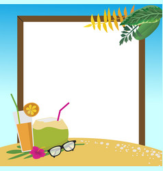 summer holidays on the beach background vector image