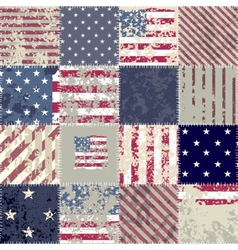 The patchwork of flag USA vector image vector image