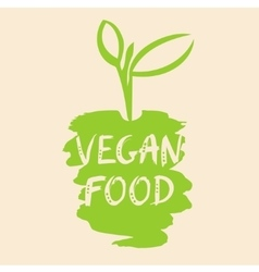 Vegan food the growth of vector