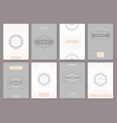 Vintage creative cards templates vector