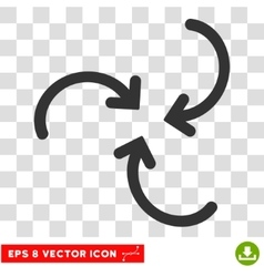 Whirl arrows round eps icon vector