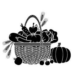 vegetables basket vector image