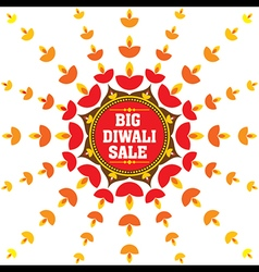 Big diwali festival sale banner design vector