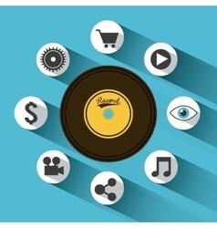 music longplay icon vector image