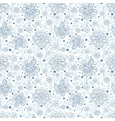 Seamless floral pattern with hand drawn flowers vector