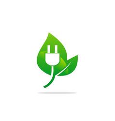 bio electric nature energy logo vector image
