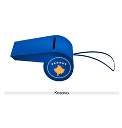 A beautiful blue whistle of kosovo flag vector