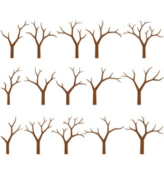 Naked trees vector
