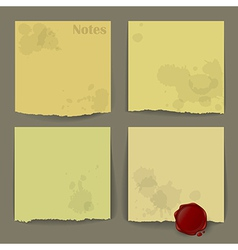 Dirty notes vector