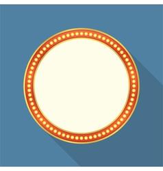 Round Retro Banner vector image