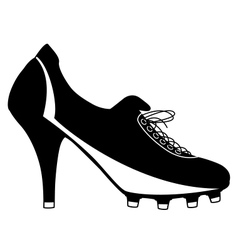 Soccer boot for women vector image