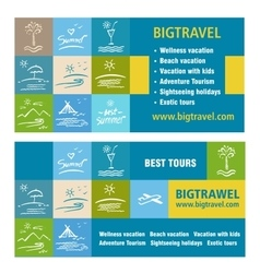 Template ads banner icon tourism tour operator vector