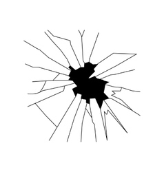 Broken glass silhouette vector image