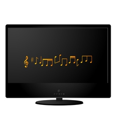 Black lcd monitor vector