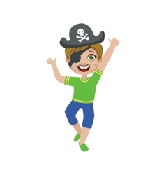 Boy in pirate make up vector