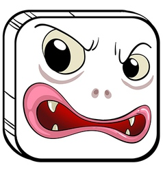 A square shaped face vector image vector image