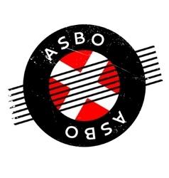 Asbo anti-social behavior order rubber stamp vector