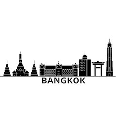 bangkok architecture city skyline travel vector image