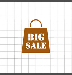 Big sale bag icon vector