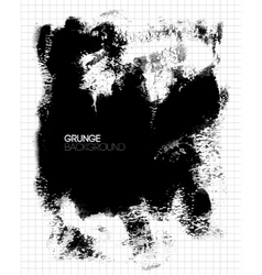 Black grunge textured background painted by brush vector