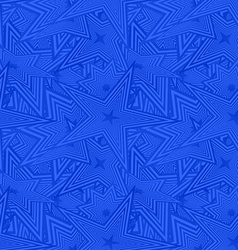 Blue seamless star pattern background vector