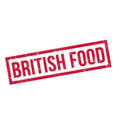 British Food rubber stamp vector image vector image